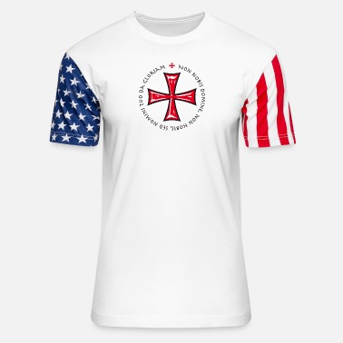 Crusader Cross Knights Templar Crusader non nobis domine - Unisex Stars & Stripes T-Shirt