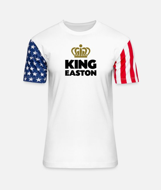 Crown T-Shirts - King easton name thing crown - Unisex Stars & Stripes T-Shirt white