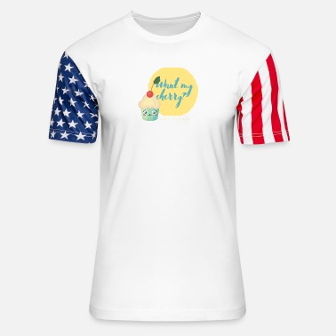 Pick Up Line Flirty Cupcake Pick up lines - Unisex Stars & Stripes T-Shirt
