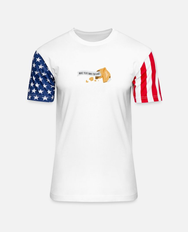 Inspiration T-Shirts - Fortune Cookie Make your own fortune Funny Gift - Unisex Stars & Stripes T-Shirt white