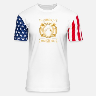 1951 The Real Kings Are Born On March 1951 - Stars & Stripes T-Shirt