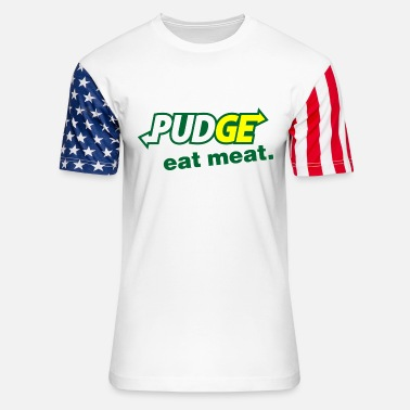 Pudge eat meat art - Unisex Stars & Stripes T-Shirt