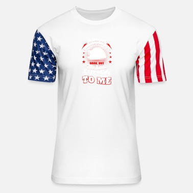 Ruhr City Miner - he may get down and dirty in the dark but - Unisex Stars & Stripes T-Shirt