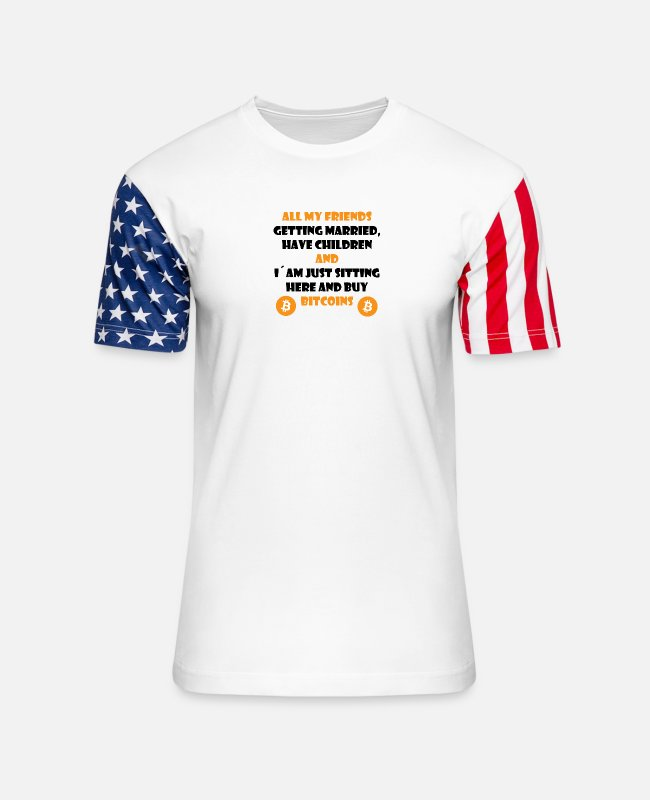 Coin T-Shirts - Buy Bitcoins - Crypto Trader - Cryptocurrencies - Unisex Stars & Stripes T-Shirt white