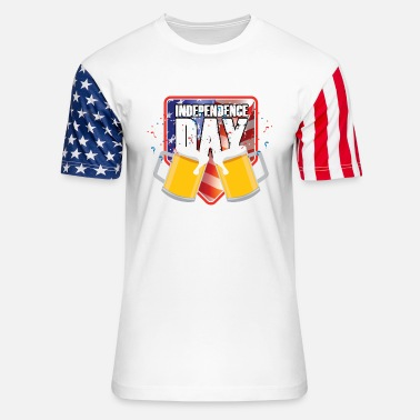 Indiana Beer Independence Day Fest - Unisex Stars & Stripes T-Shirt