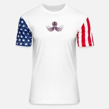 Octopus Flight Of The Octopus - Unisex Stars & Stripes T-Shirt