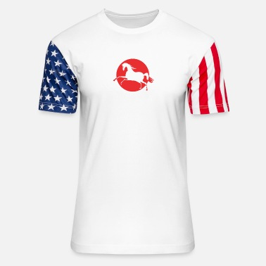 Cafe Red pony cafe - It is a beautiful day - Unisex Stars & Stripes T-Shirt