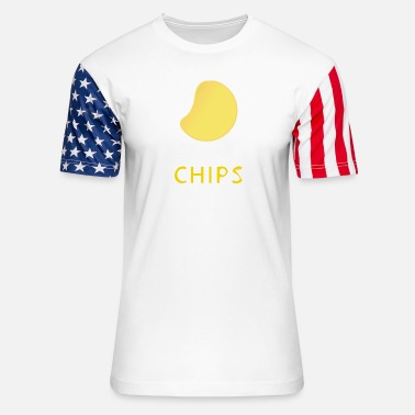 Chip chips - Unisex Stars & Stripes T-Shirt