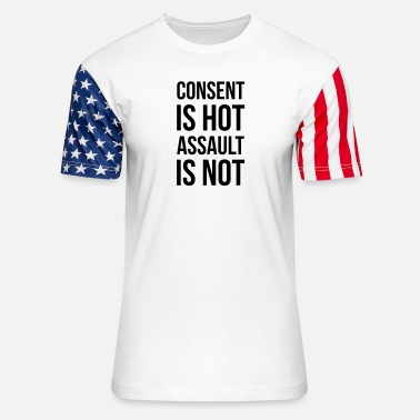 Consent Consent Buttons - Unisex Stars & Stripes T-Shirt