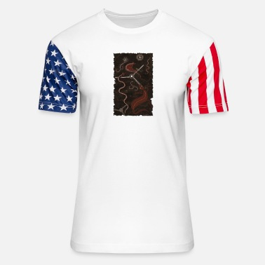 Outback Three Billabongs - Unisex Stars & Stripes T-Shirt