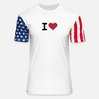 I Heart I HEART - Unisex Stars & Stripes T-Shirt
