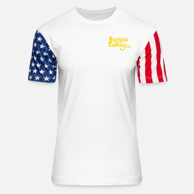 Cargo Bicycle Family Name Only Logo - Unisex Stars & Stripes T-Shirt