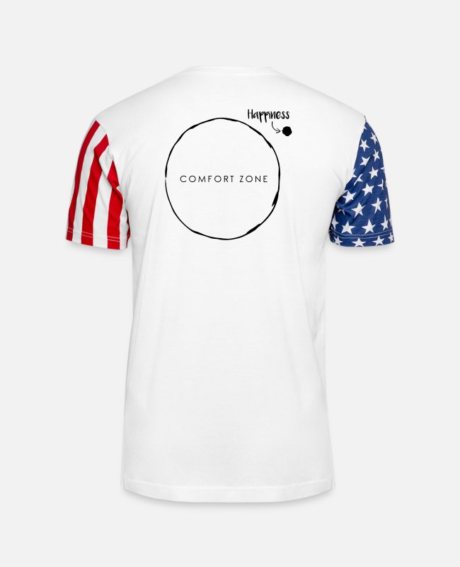 Mentality T-Shirts - Comfort Zone Happiness - Unisex Stars & Stripes T-Shirt white