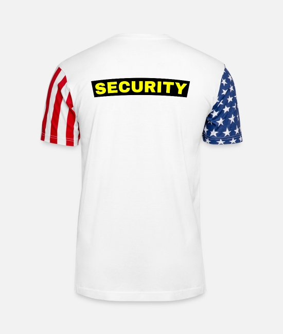 Security Service T-Shirts - Security Guard Security Service Back of Shirt - Unisex Stars & Stripes T-Shirt white
