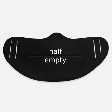 Philosophy half-empty - Basic Lightweight Face Mask