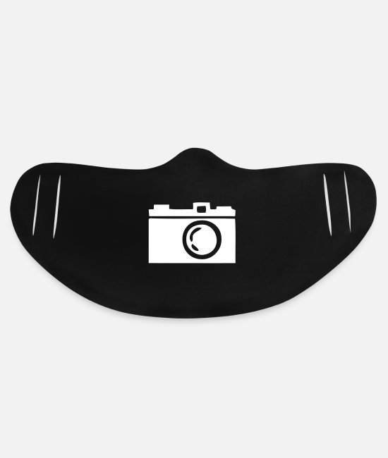 Old Face Coverings - Old Camera - Basic Lightweight Face Mask black
