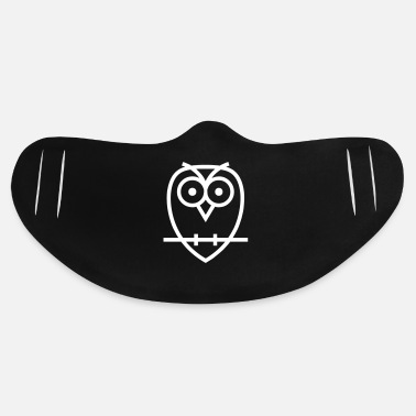 Sit Owl Sitting On A Branch - Basic Lightweight Face Mask