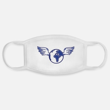 Equitation earth with wings - Face Mask
