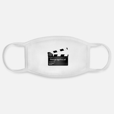 Clapperboard Biographical Movie Clapperboard - Face Mask