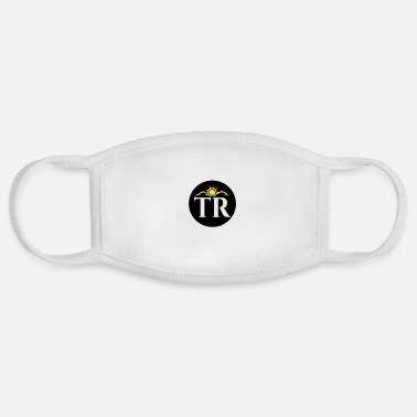 Initial TheRise.co.in Circular Initials Badge Logo - Face Mask