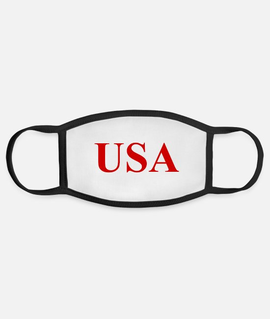 American Football Face Coverings - USA Logo - United States of America - Slogan - Face Mask white/black