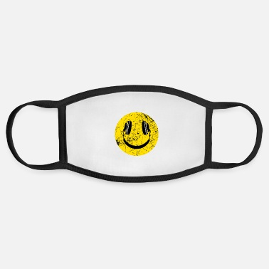 Smiley Headphones Music Lover Headphones Smiley - Face Mask