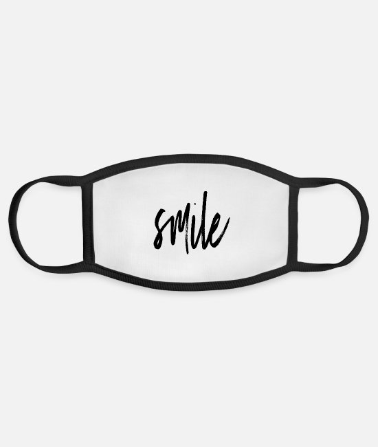 Rugby Face Masks - smile - Face Mask white/black