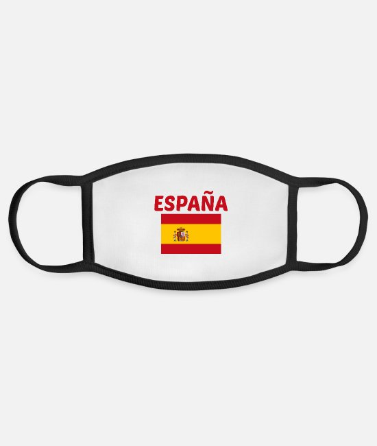Bandera Face Masks - Bandera española - Face Mask white/black
