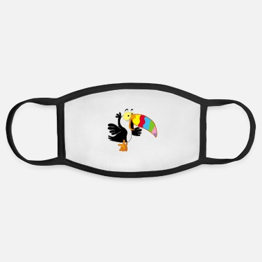 Beak Bird and multicolored beak - Face Mask