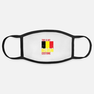 Belgium This is my Belgium Flag Costume Halloween T-Shirt - Face Mask