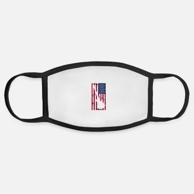 Bass Player AMERICAN FLAG BASS Player patriot Gift idea - Face Mask