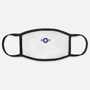 Airforce US Airforce style roundel star - Face Mask