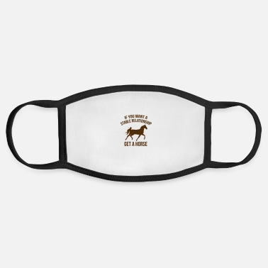 Equitation A Stable Relationship - Face Mask