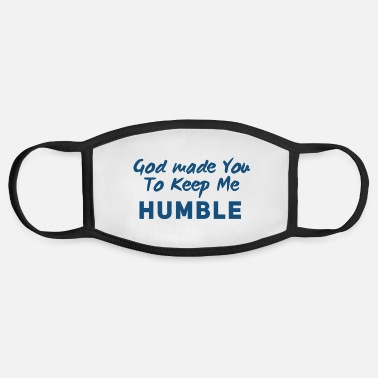 Humble Christian Humility (blue) - Face Mask