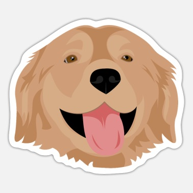 Cute Golden Retriever Golden Retriever - Sticker