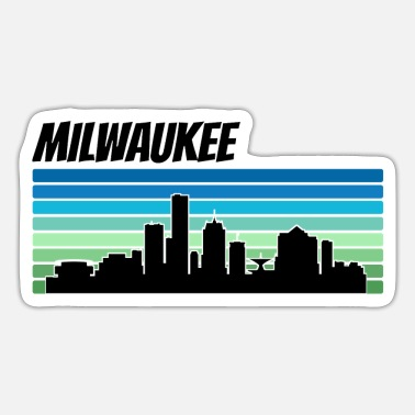 Wisconsin Retro Milwaukee Skyline - Sticker