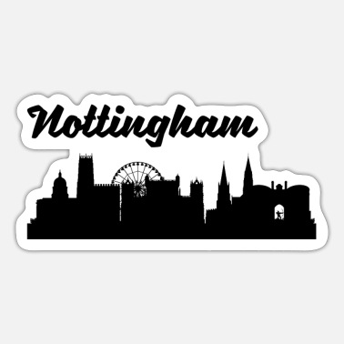 Nottingham Nottingham Skyline - Sticker