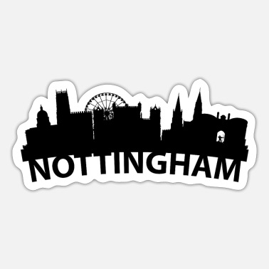 Nottingham Arc Skyline Of Nottingham England - Sticker