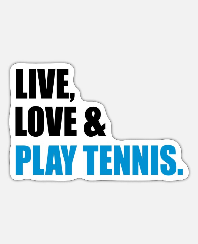 Tennis Stickers - tennis - Sticker white matte