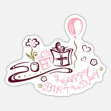 Congratulations Happy Birthday motif, Congratulations - Sticker