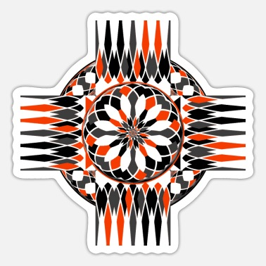 Duotone Geometric celtic cross - Sticker