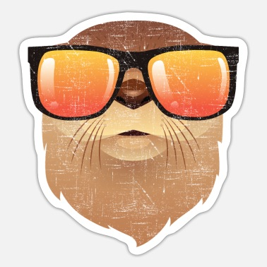 Cool Otter With Sunglasses - Sticker