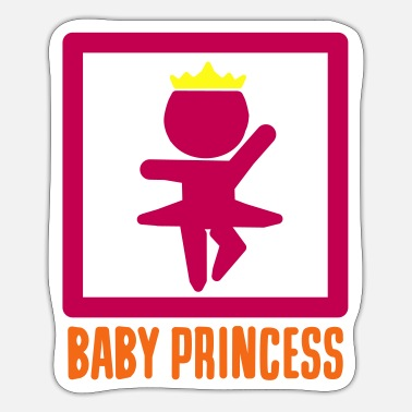 Baby Bump Baby Princess baby bump girl Princess - Sticker