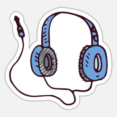Earphones earphones - Sticker