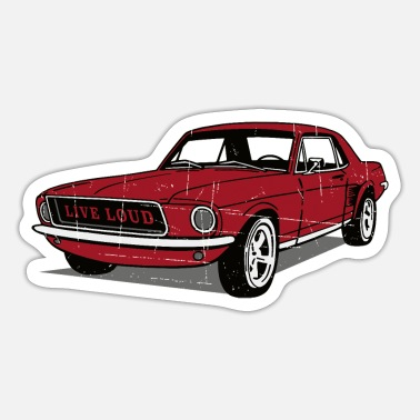 Ponycar Live Loud Coupe - Sticker
