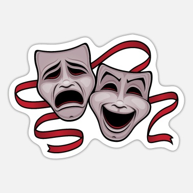 Comedy Comedy And Tragedy Masks - Sticker