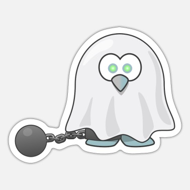 Spectre Tux Ghost Phantom Wraith Spectre Spirit Apparition - Sticker