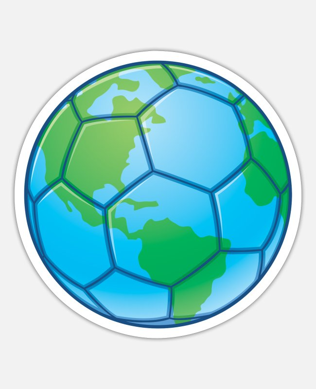 Earth Stickers - World Cup Soccer Ball - Sticker white matte