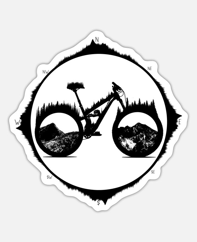 Mountains Stickers - Enduro Yety - Sticker white matte