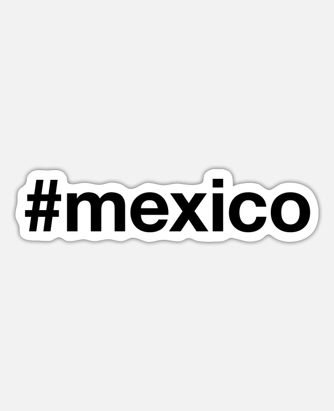 South America Stickers - MEXICO - Sticker white matte